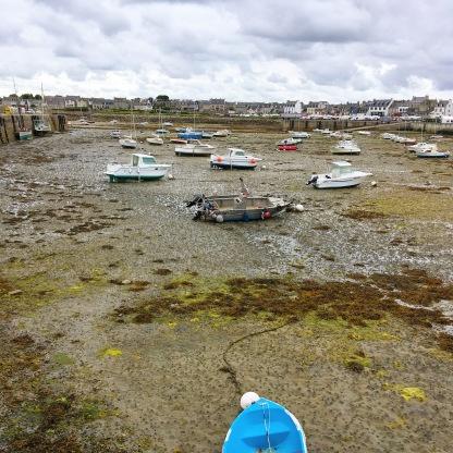 Roscoff Bretagne Hafen Ebbe Flut