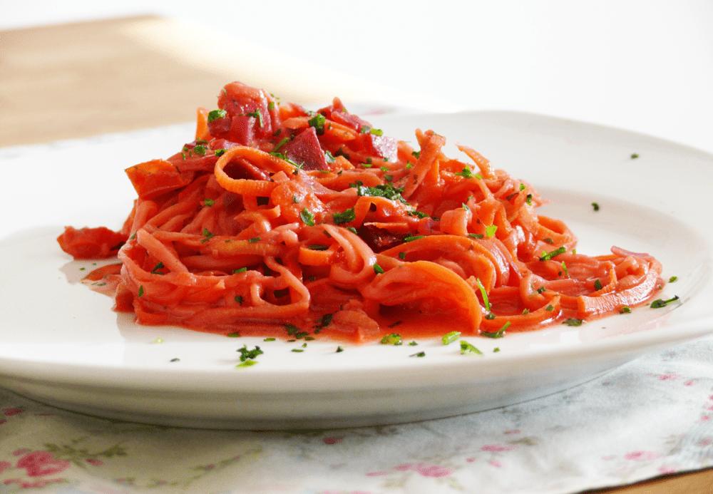 rezept zucchini Möhren spaghetti