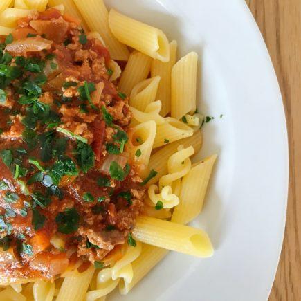vegetarische vegane Bolognese