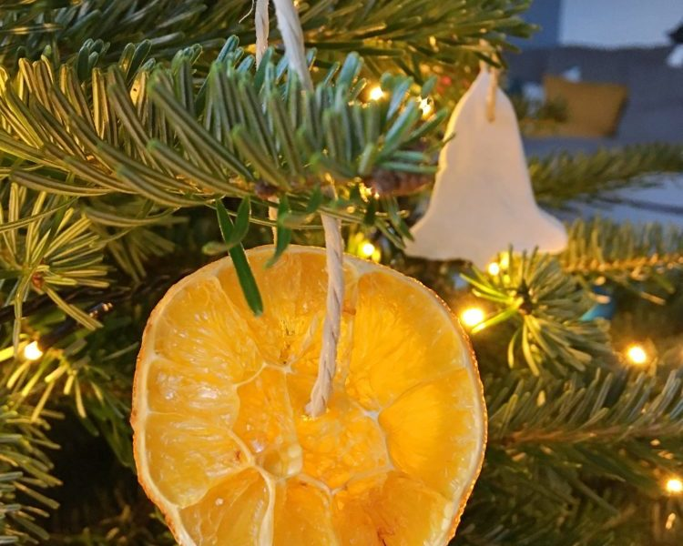 Anleitung Orangenscheiben trocknen Deko DIY