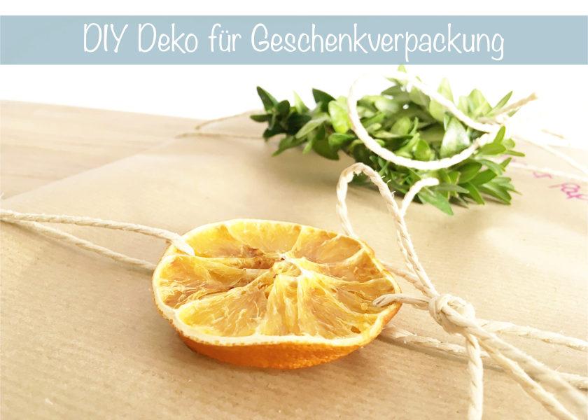 DIY Geschenkverpackung Deko