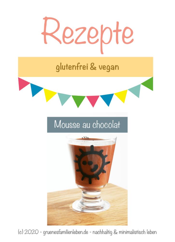 glutenfreies Mousse au chocolat Pinterest