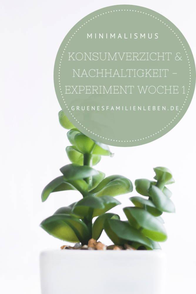 Konsumverzicht Nachhaltigkeit Experiment Woche 1