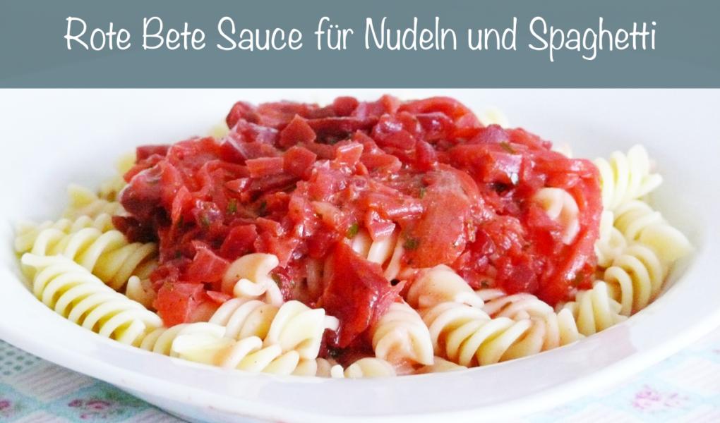 Rote Bete Sauce für Nudeln