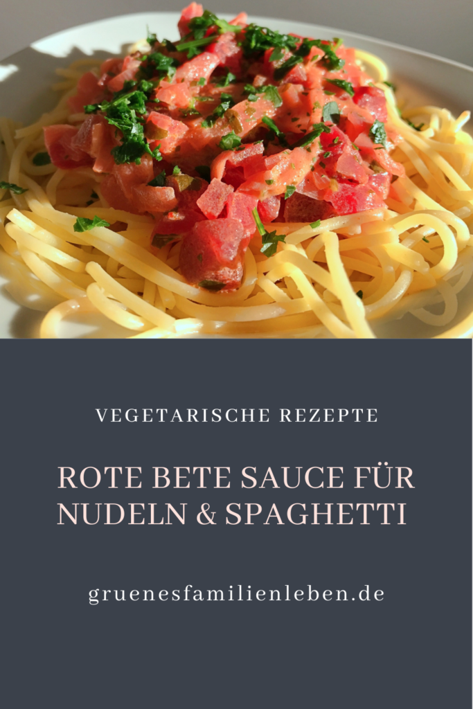 Rote Bete Sauce Nudeln