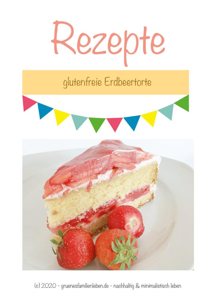 glutenfreie Erdbeertorte Pinterest