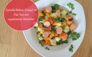 vegetarische rezepte kartoffel moehren eintopf pak choi