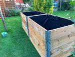 Hochbeet bauen Teichfolie