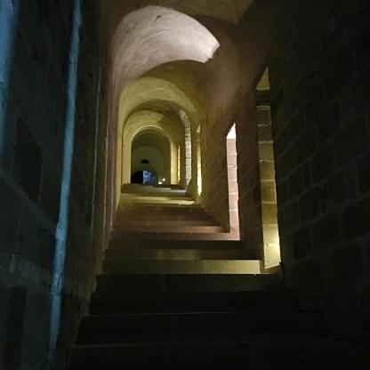 mont saint michel treppe gang