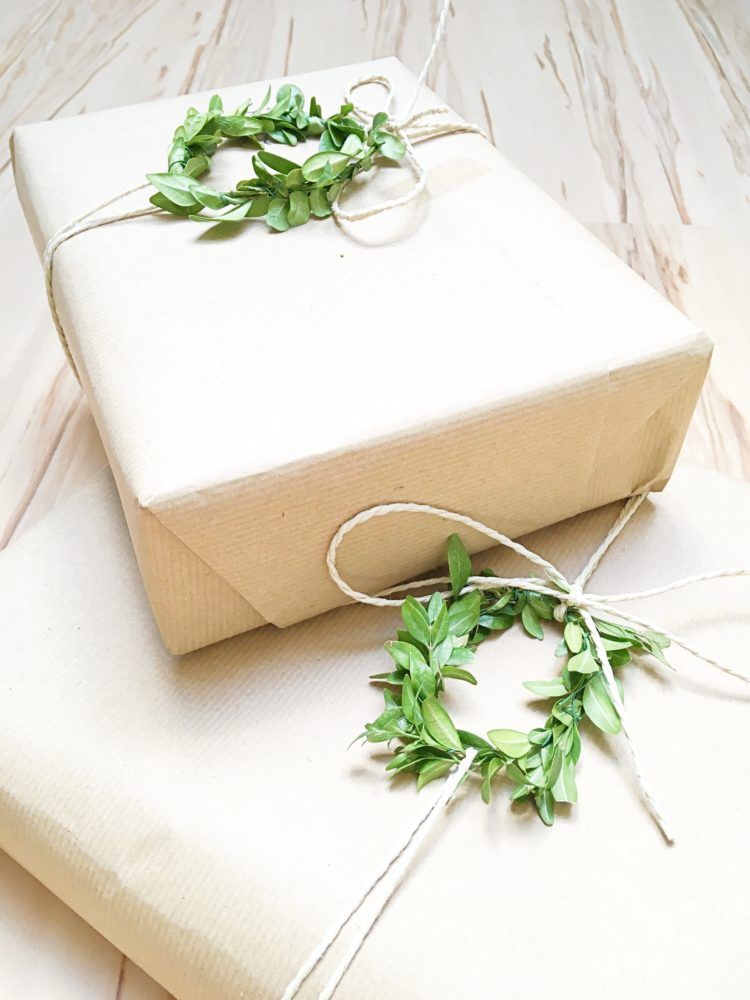 DIY Geschenkverpackung Natur