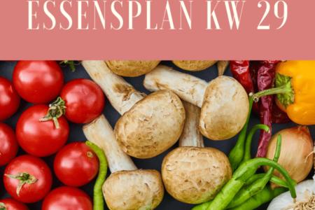 Essensplan KW 29