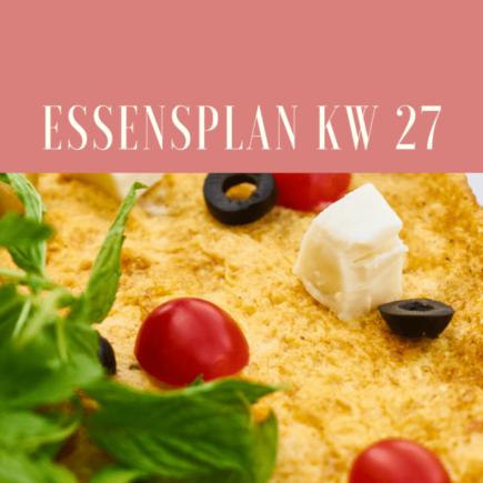 essensplan kw 27