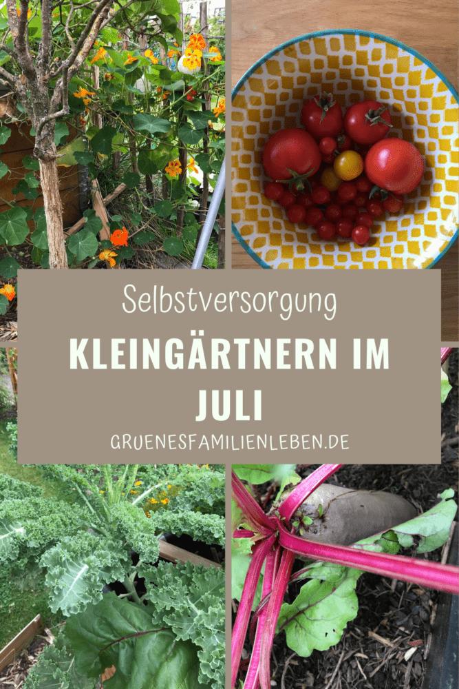 Gärtnern im Juli