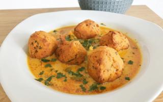 Rezept Linsenbällchen in Currysauce