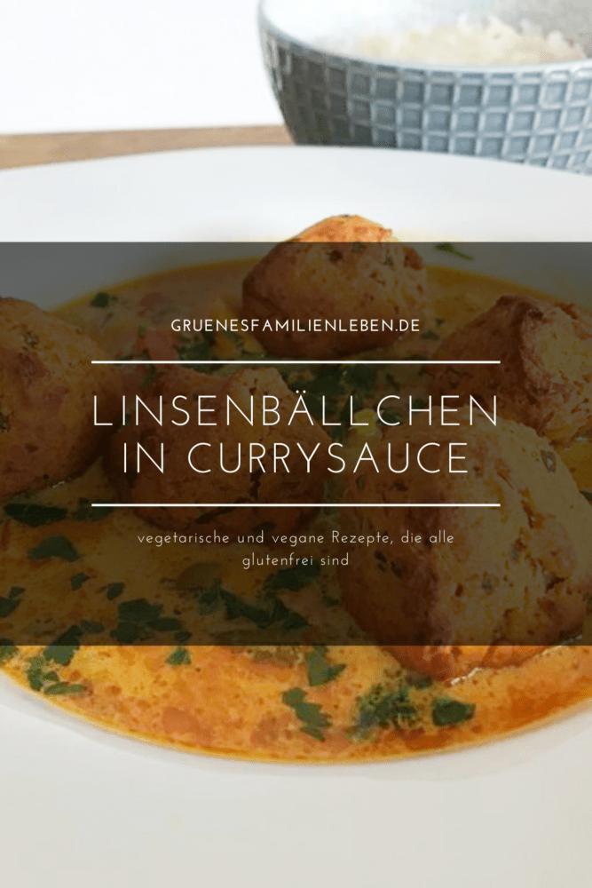 rezept linsenbaellchen currysauce pinterest